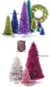 Custom Colored Slim Pencil Tree Line Christmas Tree