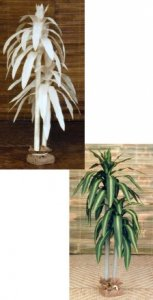 5' Tall Canvas Fortune Palm Natural or Painted