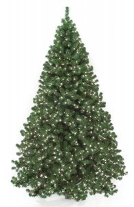 7.5' Tall - 10' Tall Deluxe Virginia Pine Christmas Tree With or without Lights
