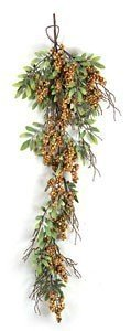 Hanging Berry Vine - 245 Green Leaves - 21 Multi-Fall Berry Clusters