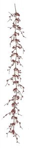 6' Bead Berry Garland - Dark Red