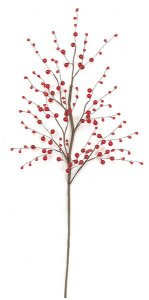 "24"" Bead Berry Spray - Red  (sold in a set of 6)"
