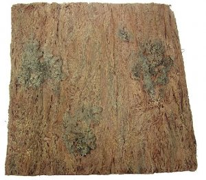 "A-5455 14"" Square Plastic Birch Bark Mat- Brown"
