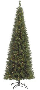 6', 7.5', 9' Pencil Pine Christmas Tree Comes With or Without lights