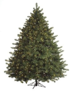 7.5' , 9' Majestic Fir Christmas Tree with Clear Lights