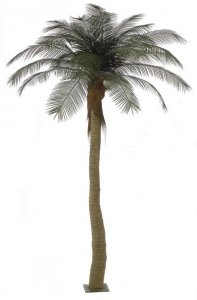 Custom Made 12' Phoenix Palm Tree - 8' Synthetic Majestic Style Trunk