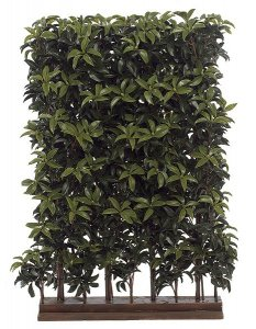 "4' CUSTOM MADE Laurel Faux  Outdoor Hedge Middle Section 36"" Long 24"" Wide"