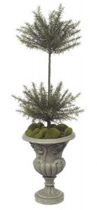 "Faux Life Like 38"" Rosemary Topiary - Double Ball"