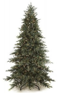 C-71431 9' **Natural Real Touch** Cilician Fir Christmas Tree Plastic Blue With Lights