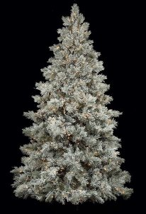 Pre Lit 7.5' & 9' Light Frosted Blue Spruce Christmas Tree with Pine Cones
