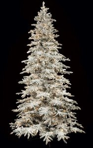 Pre Lit 9' Flocked Snow Pine Christmas Tree