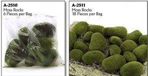 Resin Coated Foam Moss Stone Perfect addition to any plant or tree!