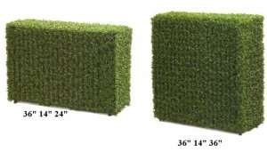 EF-3351-  Mini Boxwood Tea Leaf Hedge (Comes in two Sizes)
