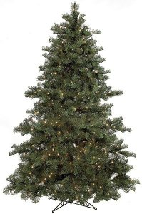 C-70200/C-70201 7.5' **Natural Real Touch** Westwood Pine Christmas Tree Plastic/PVC Green Tips With or Without Lights