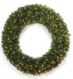 "C-80125/C-80135 Pre Lit Christmas Limber Pine Wreaths 48"" , 60""  Sizes Available"