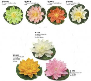 (Dozen) Life Like Lily Pad Selection -Many Colors to choose from