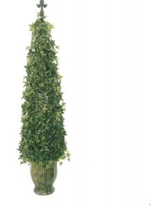 "EFAD-2707 54"" Star Ivy Topiary Tree Cone with pot shown"