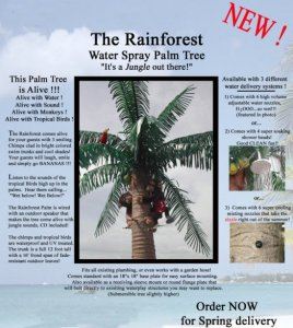 EF-2010 12' Outdoor Coconut Palm Tree With Talking Jungle Sounds