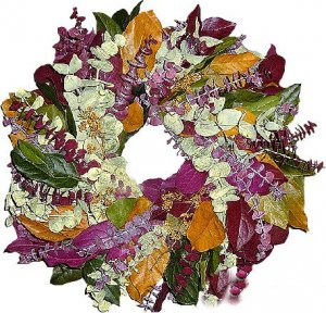 "Ef-Euca Wreath Preserved Wreaths 17"" and 24"" Size Capture A Reflection of Nature"