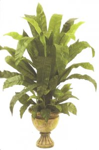 "EF-6528 44"" Bird Nest Plant In Urn Shown(Sold In a set of two Pc)"