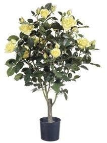 "EF-424 Faux Life Like Flowering Rose Bush-yellow -31 "" height"