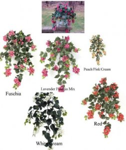 EF-1971 Artificial Outdoor Hanging Bougainvillea Bush
