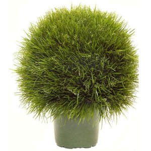 "EF-3393  18"" Wide Ball 21"" Tall  Acorus Grass Ball Topiary"