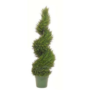 EF-3333 4' Pond Cypess Spiral Topiary 1842 Lvs