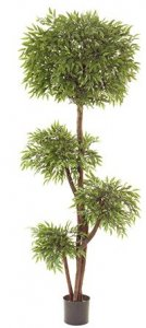 EF-1811 6 foot Ruscus Quadruple Ball Tree