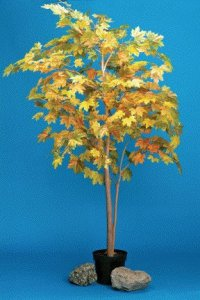 EF-8502 8' Autumn Maple Leaf Tree Yellow Green 2750 Leaves