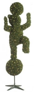 C-60091 10' BEAR 2-BALL Topiary with 750 Lights/Indoor/Outdoor