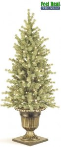 C-30241 4' 6' Ashland Spruce Entrance Tree Blue /With urn as shown