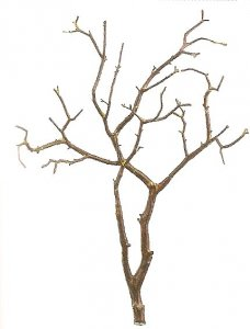"EF-QSW016-BR 27"" Plastic Twig Branch Brown Color (Sold in a set of 4pc)"