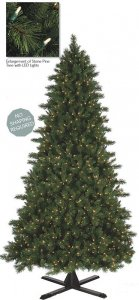 C-81018 7.5' to 15' Tall Stone Pine Tree - Full - ***Instant Shape*** -  NEW LED Lights