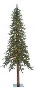 7' Alpine Christmas Tree - 921 Green Tips - 400 Warm White 5mm LED Lights