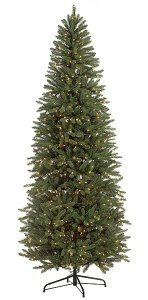 Colorado Spruce Christmas Tree - Slim Size - Green/Blue Tips - 850 Clear Lights