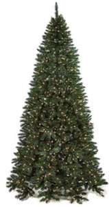 "C-70068 7.5' Half Fir Tree - 820 Green Tips - 250 Clear LED Lights - 52"" Width - Wire Stand**** Lays Flay Against Wall"