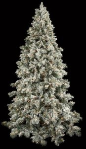 C-70518 9' Blue Spruce Needle Tree - Full - 2,211 Flocked Tips - 174 Pine Cones