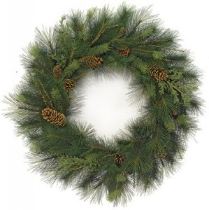 "36"" Mixed Austrian Sugar Pine Wreath - Common Juniper and Pine Cones"