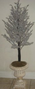 "EF-4900 36"" Ice Tree Custom Made/Silver Glitter"