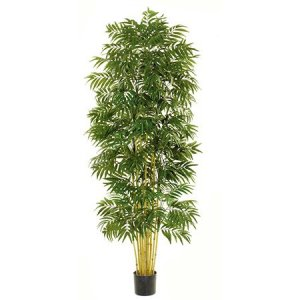 EF-1812 7 foot Bamboo Palm Tree with Natural Trunks