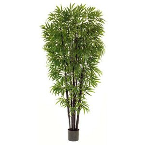 EF-1817 6.5 foot Black Bamboo Tree with natural trunks 1800 Leaves