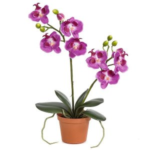 "16"" Purple life like Orchid with Pot"