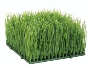 "EF-854 4""H 6""W 6""L Plastic Wheat Grass Mat (Sold In A Set Of 4 PC)"