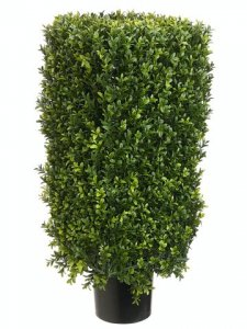 "EF-232 30"" Plastic Boxwood Topiary 12"" Wide 22"" Tall Boxwood Foliage  Indoor/Outdoor"