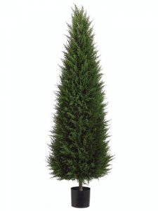 EF-LPC265-GR 5'CONE Plastic CYPRESS Tree Indoor/Outdoor (Price is for a 2 PC Set)