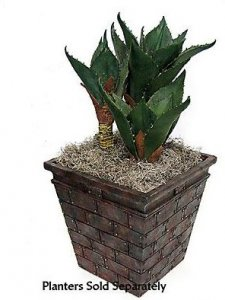 "PF-60040 27"" Agave Plant - Soft Touch - Synthetic Trunks - Green - Weighted Base"
