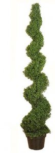 EF-3313 6' Boxwood Spiral topiary Tree 1808 lvs indoor/Outdoor
