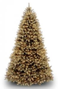 "EF-3336 10'Downswept Douglas Fir ""Feel-Real"" PE/PVC Material  with 1000 concave soft white LED Lights 73"" to 77"" Width - Metal Stand"