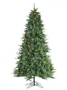 "EF-Y0E509-GR/BL 9'Hx59""D Ceasar Blue Pine Tree x1959 w/900 Smart All-Lit Clear Lights on Metal Base Green Blu"